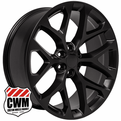 20 inch Chevy Avalanche Factory Style Snowflake Wheel Satin Black Rim 20 x9