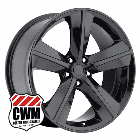 "20x9"" inch Dodge Challenger SRT8 OE Replica Gloss Black Wheel Rim"