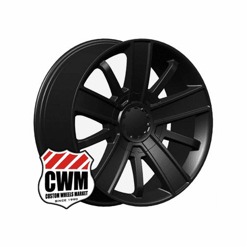 "20x9"" Chevy Silverado High Country 2014 Style OE 5416 Replica Satin Black Wheel Rim"