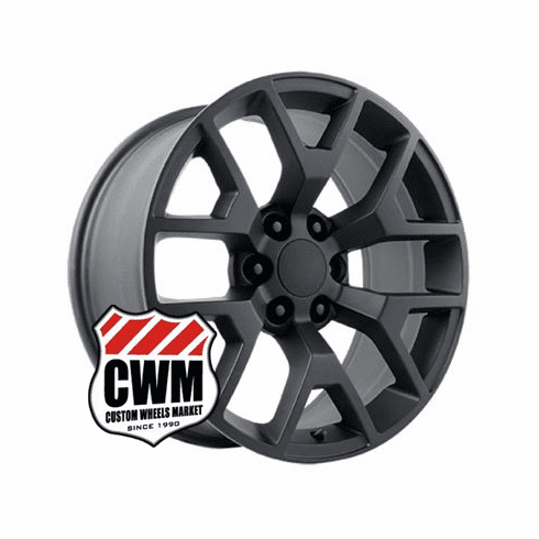 "20x9"" GMC Sierra 2014 Style OE 5656 Replica Satin Black Wheel Rim"