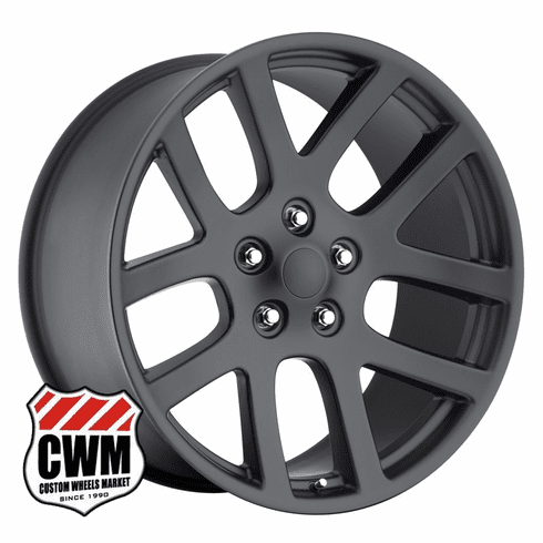 "20x9"" SRT10 Replica Satin Black Wheels Rims 5x5.5"" for Dodge Ram 1500 2002-2015"