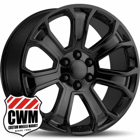 "22"" inch 22 x9"" Wheel for Chevy Avalanche Gloss Black Rim 5665"