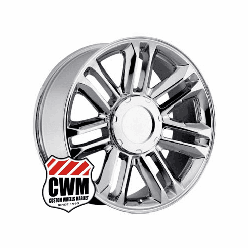 "22x9"" Cadillac Escalade Platinum 2010 Style OE 5358 Replica Chrome Wheel Rim"