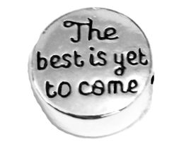 <B>THE BEST IS YET TO COME</B>, PANDORA STYLE CHARM 3 MM HOLE,<BR> �2020  W198SC  $2.28 Each