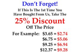 TAKE THE 25% DISCOUNT OFF