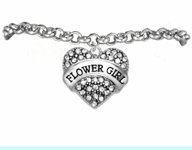 """<BR>""""ADJUSTABLE"""" TO FIT 4 YEAR OLD TO ADULT<BR>       """"FLOWER GIRL""""  EXCLUSIVELY OURS!!   <Br>               AN ALLAN ROBIN DESIGN!!   <br>          HYPOALLERGENIC BRACELET<BR>        NICKEL, LEAD & CADMIUM FREE!!   <BR>W1683B2- FROM $5.98 TO $12.85 �2015"""