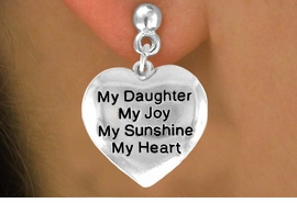 "<bR>         AN ALLAN ROBIN DESIGN<bR>               EXCLUSIVELY OURS!!<BR>CLICK HERE TO SEE 120+ EXCITING<BR>   CHANGES THAT YOU CAN MAKE!<BR>              LEAD & NICKEL FREE!!<BR>      W600SE - ""MY DAUGHTER"" &<Br>        EARRINGS FROM $4.50 TO $8.35"