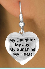 """<bR>         AN ALLAN ROBIN DESIGN<bR>               EXCLUSIVELY OURS!!<BR>CLICK HERE TO SEE 120+ EXCITING<BR>   CHANGES THAT YOU CAN MAKE!<BR>              LEAD & NICKEL FREE!!<BR>      W600SE - """"MY DAUGHTER"""" &<Br>        EARRINGS FROM $4.50 TO $8.35"""