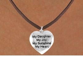 "<bR>         AN ALLAN ROBIN DESIGN<bR>               EXCLUSIVELY OURS!!<BR>CLICK HERE TO SEE 120+ EXCITING<BR>   CHANGES THAT YOU CAN MAKE!<BR>              LEAD & NICKEL FREE!!<BR>     W600SN - ""MY DAUGHTER"" &<BR>        NECKLACE AS LOW AS $4.50"