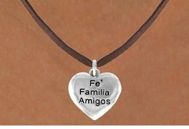 "<bR>         AN ALLAN ROBIN DESIGN<bR>               EXCLUSIVELY OURS!!<BR>CLICK HERE TO SEE 120+ EXCITING<BR>   CHANGES THAT YOU CAN MAKE!<BR>              LEAD & NICKEL FREE!!<BR>W601SN - ""FE FAMILIA AMIGOS"" &<BR>        NECKLACE AS LOW AS $4.50"