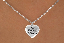 "<bR>           AN ALLAN ROBIN DESIGN<bR>               EXCLUSIVELY OURS!!<BR>CLICK HERE TO SEE 120+ EXCITING<BR>   CHANGES THAT YOU CAN MAKE!<BR>              LEAD & NICKEL FREE!!<BR>W601SN - ""FE FAMILIA AMIGOS"" &<BR>        NECKLACE AS LOW AS $4.50 �2015"
