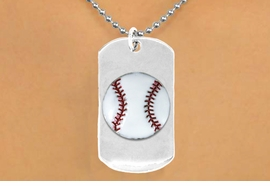 "<bR>              AN ALLAN ROBIN DESIGN<bR>                  EXCLUSIVELY OURS!!<BR>     CLICK HERE TO SEE 65+ EXCITING<BR>      CHANGES THAT YOU CAN MAKE!<BR>                 LEAD & NICKEL FREE!!<BR>W693SN - DOUBLE-SIDED BASEBALL<Br><B>""NEVER GIVE UP"" DOG TAG</B> NECKLACE<BR>                FROM $5.57 TO $10.50<BR>                                 &#169;2010<br>"
