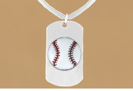 "<bR>              AN ALLAN ROBIN DESIGN<bR>                  EXCLUSIVELY OURS!!<BR>     CLICK HERE TO SEE 65+ EXCITING<BR>      CHANGES THAT YOU CAN MAKE!<BR>                 LEAD & NICKEL FREE!!<BR>W693SN - DOUBLE-SIDED BASEBALL<Br>""NEVER GIVE UP"" DOG TAG NECKLACE<BR>                FROM $5.57 TO $10.50<BR>                                 &#169;2010<br>"
