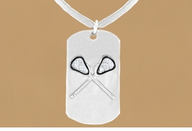 "<bR>              AN ALLAN ROBIN DESIGN<bR>                    EXCLUSIVELY OURS!!<BR>      CLICK HERE TO SEE 65+ EXCITING<BR>       CHANGES THAT YOU CAN MAKE!<BR>                   LEAD & NICKEL FREE!!<BR>W694SN - DOUBLE-SIDED LACROSSE<Br> ""NEVER GIVE UP"" DOG TAG NECKLACE<BR>                  FROM $6.25 TO $10.50<BR>                                 &#169;2010<br> <ul>ITEM TEMPORARILY OUT OF STOCK!!!</ul>"