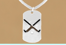 """<bR>                 AN ALLAN ROBIN DESIGN<bR>                      EXCLUSIVELY OURS!!<BR>        CLICK HERE TO SEE 65+ EXCITING<BR>         CHANGES THAT YOU CAN MAKE!<BR>                     LEAD & NICKEL FREE!!<BR>W697SN - DOUBLE-SIDED FIELD HOCKEY<Br>    """"NEVER GIVE UP"""" DOG TAG NECKLACE<BR>                    FROM $6.25 TO $10.50<BR>                                     &#169;2010<br> <ul>ITEM TEMPORARILY OUT OF STOCK!!!</ul>"""