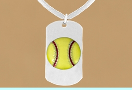 """<bR>              AN ALLAN ROBIN DESIGN<bR>                  EXCLUSIVELY OURS!!<BR>     CLICK HERE TO SEE 65+ EXCITING<BR>      CHANGES THAT YOU CAN MAKE!<BR>                 LEAD & NICKEL FREE!!<BR>W698SN - DOUBLE-SIDED SOFTBALL<Br>""""NEVER GIVE UP"""" DOG TAG NECKLACE<BR>                FROM $6.25 TO $10.50<BR>                                 &#169;2010"""