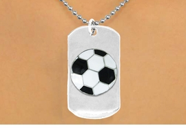 "<bR>              AN ALLAN ROBIN DESIGN<bR>                  EXCLUSIVELY OURS!!<BR>     CLICK HERE TO SEE 65+ EXCITING<BR>      CHANGES THAT YOU CAN MAKE!<BR>                 LEAD & NICKEL FREE!!<BR>   W699SN - DOUBLE-SIDED SOCCER<Br>""NEVER GIVE UP"" DOG TAG NECKLACE<BR>                FROM $6.25 TO $10.50<BR>                                 &#169;2010<br> <ul>ITEM TEMPORARILY OUT OF STOCK!!!</ul>"