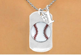 "<bR>             AN ALLAN ROBIN DESIGN<bR>                  EXCLUSIVELY OURS!!<BR>                 LEAD & NICKEL FREE!!<BR>W16282N - DOUBLE-SIDED BASEBALL<Br>     ""NEVER GIVE UP"" DOG TAG & ""#1""<Br>              CHARM NECKLACE FROM<bR>                $7.50 TO $11.75 &#169;2010"