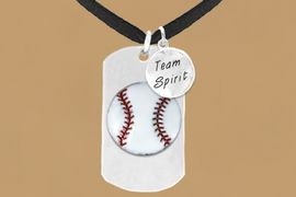 "<bR>              AN ALLAN ROBIN DESIGN<bR>                   EXCLUSIVELY OURS!!<BR>                  LEAD & NICKEL FREE!!<BR>W16283N - DOUBLE-SIDED BASEBALL<Br>   ""NEVER GIVE UP"" DOG TAG & ""TEAM<Br>       SPIRIT"" CHARM NECKLACE FROM<bR>                 $7.50 TO $11.75 &#169;2010"