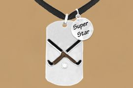 "<bR>                  AN ALLAN ROBIN DESIGN<bR>                       EXCLUSIVELY OURS!!<BR>                      LEAD & NICKEL FREE!!<BR>W16293N - DOUBLE-SIDED FIELD HOCKEY<Br>     ""NEVER GIVE UP"" DOG TAG & ""SUPER<Br>            STAR"" CHARM NECKLACE FROM<bR>                     $7.50 TO $11.75 &#169;2010"