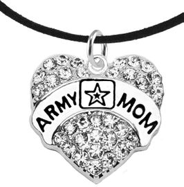 """<Br>              WHOLESALE  ARMY MOM JEWELRY  <BR>                         AN ALLAN ROBIN DESIGN!! <Br>                   CADMIUM, LEAD & NICKEL FREE!!  <Br> W1808N3  """"ARMY MOM"""" HEART  <BR>  CHARM ON HEART ADJUSTABLE NECKLACE <BR>            FROM $7.50 TO $9.50 �2016"""