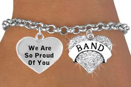 <BR>                      SCHOOL BAND HEART CHARM BRACELET WHOLESALE <bR>                 W2138B1 - THE NEW WAY TO EXPRESS LOVE, MOTIVATION,<BR>                                          POSITIVE, AFFIRMATIVE EXPRESSIONS, <BR>                    ADJUSTABLE ROLO CHAIN BRACELET $10.68 EACH �2014