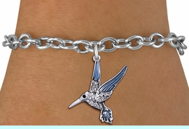 <BR>                       BIRD JEWELRY <bR>                EXCLUSIVELY OURS!! <Br>           AN ALLAN ROBIN DESIGN!! <BR>  CLICK HERE TO SEE 1000+ EXCITING <BR>        CHANGES THAT YOU CAN MAKE! <BR>     LEAD, NICKEL & CADMIUM FREE!! <BR>   W1440SB - SILVER TONE AND CLEAR <BR> CRYSTAL HUMMINGBIRD CHARM & BRACELET <BR>         FROM $5.40 TO $9.85 �2013