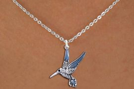 <BR>                      BIRD   NECKLACE <bR>                   EXCLUSIVELY OURS!! <Br>              AN ALLAN ROBIN DESIGN!! <BR>     CLICK HERE TO SEE 1000+ EXCITING <BR>           CHANGES THAT YOU CAN MAKE! <BR>        LEAD, NICKEL & CADMIUM FREE!! <BR>     W1440SN - SILVER TONE WITH CLEAR <BR> CRYSTAL HUMMINGBIRD CHARM & NECKLACE <BR>            FROM $5.40 TO $9.85 �2013