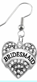 """<BR>       """"BRIDESMAID""""  EXCLUSIVELY OURS!!   <Br>               AN ALLAN ROBIN DESIGN!!   <br>                         HYPOALLERGENIC<BR>        NICKEL, LEAD & CADMIUM FREE!!   <BR>W1681E1- FROM $5.98 TO $12.85 �2015"""