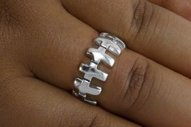 <BR> CADMIUM,  LEAD,  AND NICKEL FREE!!!! <BR>       WHOLESALE CHRISTIAN JEWELRY <Br>W19483R - CHRISTIAN CROSS STRETCH <BR>           RING FROM $2.25 TO $5.00