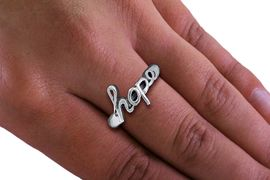 """<BR> CADMIUM,  LEAD,  AND NICKEL FREE!!!! <BR>       WHOLESALE CHRISTIAN JEWELRY <Br>     W20596R - """"HOPE"""" SCRIPT STRETCH <BR>           RING FROM $2.25 TO $5.00 �2013"""