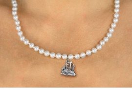 <BR>                       CATHOLIC JEWELRY<Br>                     LEAD & NICKEL FREE!! <Br>     W19443N - GOLGOTHA / CALVARY <BR> CHARM ON 6MM PEARL BEAD NECKLACE <BR>            FROM $4.73 TO $10.50 �2012
