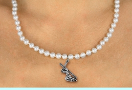 <BR>                       CATHOLIC JEWELRY<Br>                     LEAD & NICKEL FREE!! <Br>     W19447N - JESUS CARRYING CROSS <BR> CHARM ON 6MM PEARL BEAD NECKLACE <BR>            FROM $4.73 TO $10.50 �2012