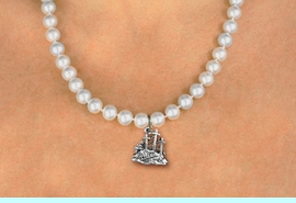 <BR>                       CATHOLIC JEWELRY<Br>                     LEAD & NICKEL FREE!! <Br>     W19452N - GOLGOTHA / CALVARY <BR> CHARM ON 8MM PEARL BEAD NECKLACE <BR>            FROM $4.73 TO $10.50 �2012