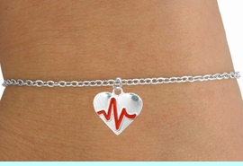 """<BR>                   CHILDREN'S 5 1/2"""" ADJUSTABLE BRACELET """"THE PERFECT GIFT"""",<BR>                                   """"Your Love Makes My Heart Beat"""","""" I Love You"""", Or<BR>                                      In Recognition Of """"Children's Heart Disease""""<BR>                           """" HEARTBEAT """" SMALL CHAIN ADJUSTABLE BRACELET<BR>                                     AN ORIGINAL ALLAN ROBIN CUSTOM DESIGN<br>                                                   WHOLESALE CHARM BRACELET <BR>                                                 LEAD, CADMIUM & NICKEL FREE!!  <BR>             W21601B-SMALL CHAIN, BRIGHT SILVER TONE ADJUSTABLE BRACELET <BR>              FITS 5 1/2"""" TO 6 3/4"""" WRIST SIZES FROM $5.60 TO $9.85 EACH! &#169;2015"""