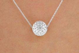 <BR>CLICK HERE TO SEE 65+ EXCITING<BR>ADDITIONS THAT YOU CAN MAKE!<BR>             LEAD & NICKEL FREE!!<Br>     W13202N - DETAILED SILVER<Br>      TONE GOLF BALL NECKLACE<Br>                  AS LOW AS $3.35