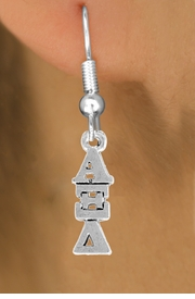 <BR>          CLICK ON PICTURE, SCROLL DOWN<BR>TO SELECT YOUR SORORITIES GREEK LETTERS<bR>      WHOLESALE FASHION SORORITY JEWELRY  <BR>                     EXCLUSIVELY OURS!!  <BR>                AN ALLAN ROBIN DESIGN!!  <BR>          LEAD, NICKEL & CADMIUM FREE!!  <BR>W21354E - OFFICIAL SILVER TONE CUSTOM  <BR>GREEK LETTER SORORITY CHARM ON FISHHOOK <Br>    EARRINGS FROM $5.90 TO $9.25 �2014