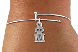 <BR>                       CLICK ON PICTURE, SCROLL DOWN<BR>             TO SELECT YOUR SORORITIES GREEK LETTERS<bR>                   WHOLESALE FASHION SORORITY JEWELRY  <BR>                                  EXCLUSIVELY OURS!!  <BR>                             AN ALLAN ROBIN DESIGN!!  <BR>                       LEAD, NICKEL & CADMIUM FREE!!  <BR>            W21366B - OFFICIAL SILVER TONE CUSTOM  <BR>    GREEK LETTER SORORITY CHARM ON ADJUSTABLE <Br>     SKINNY BRACELET FROM $5.90 TO $9.25 �2014