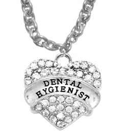 <BR>     W1761N1 - DENTAL HYGIENIST, GENUINE CRYSTAL HEART<br>             CABLE CHAIN NECKLACE, SAFE-HYPOALLERGENIC, <BR>        NICKEL, LEAD, CADMIUM FREE,  $10.38 EACH �2016