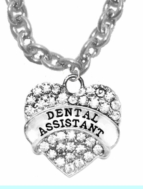 <BR>     W1770N1 - DENTAL ASSISTANT, GENUINE CRYSTAL HEART<br>             CABLE CHAIN NECKLACE, SAFE-HYPOALLERGENIC, <BR>        NICKEL, LEAD, CADMIUM FREE,  $10.38 EACH  �2016