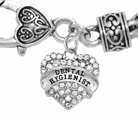<BR>W1761B1 - DENTAL HYGIENIST, GENUINE CRYSTAL HEART<br>        WHEAT CHAIN BRACELET, SAFE-HYPOALLERGENIC, <BR>     NICKEL, LEAD, CADMIUM FREE, $ 10.38 EACH �2016,