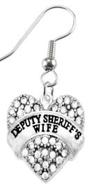 """<BR>       """"DEPUTY SHERIFF'S WIFE""""  EXCLUSIVELY OURS!!   <Br>                              AN ALLAN ROBIN DESIGN!!   <BR>                       NICKEL, LEAD & CADMIUM FREE!!   <BR>                W1710E1- FROM $5.98 TO $12.85 �2015"""