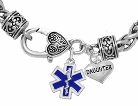 <BR>                          EMT, DAUGHTER CHARM BRACELET<BR>                             AN ALLAN ROBIN DESIGN!! <Br>                         CADMIUM, LEAD & NICKEL FREE!!  <Br>             W1496-1831B1 ON A WHEAT CHAIN BRACELET <BR>                              FROM $7.50 TO $9.50 �2016