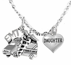 <BR>         EMT, I LOVE YOU DAUGHTER CHARM NECKLACE<BR>                             AN ALLAN ROBIN DESIGN!! <Br>                         CADMIUM, LEAD & NICKEL FREE!!  <Br> W1530-1831N1 ON A CABLE CHAIN NECKLACE <BR>                              FROM $7.50 TO $9.50 �2016