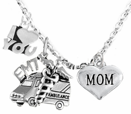 <BR>         EMT, I LOVE YOU MOM CHARM NECKLACE<BR>                             AN ALLAN ROBIN DESIGN!! <Br>                         CADMIUM, LEAD & NICKEL FREE!!  <Br> W1530-380-1837N1 ON A CABLE CHAIN NECKLACE <BR>                              FROM $7.50 TO $9.50 �2016