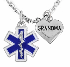<BR>            EMT, I LOVE YOU GRANDMA CHARM NECKLACE<BR>                             AN ALLAN ROBIN DESIGN!! <Br>                         CADMIUM, LEAD & NICKEL FREE!!  <Br>             W1496-1832N1 ON A CABLE CHAIN NECKLACE <BR>                              FROM $7.50 TO $9.50 �2016