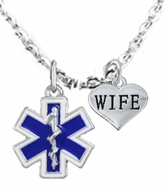 <BR>            EMT, I LOVE YOU WIFE CHARM NECKLACE<BR>                             AN ALLAN ROBIN DESIGN!! <Br>                         CADMIUM, LEAD & NICKEL FREE!!  <Br>             W1496-1876N1 ON A CABLE CHAIN NECKLACE <BR>                              FROM $7.50 TO $9.50 �2016