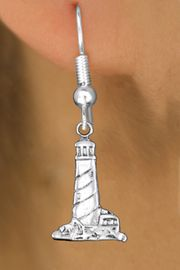 <bR>                 EXCLUSIVELY OURS!!<BR>           AN ALLAN ROBIN DESIGN!! <BR> CADMIUM, LEAD & NICKEL FREE!! <BR>W1336SE - ANTIQUED SILVER TONE <BR>LIGHTHOUSE CHARM EARRINGS <BR>     FROM $4.50 TO $8.35 �2012