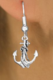 <bR>                 EXCLUSIVELY OURS!!<BR>           AN ALLAN ROBIN DESIGN!! <BR> CADMIUM, LEAD & NICKEL FREE!! <BR>W1337SE - ANTIQUED SILVER TONE <BR> BOAT ANCHOR CHARM EARRINGS <BR>     FROM $4.50 TO $8.35 �2012