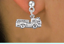 <bR>                 EXCLUSIVELY OURS!!<BR>           AN ALLAN ROBIN DESIGN!! <BR> CADMIUM, LEAD & NICKEL FREE!! <BR>W1350SE - ANTIQUED SILVER TONE <BR>FIRE ENGINE CHARM EARRINGS <BR>     FROM $4.50 TO $8.35 �2012